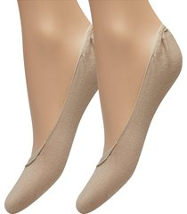 th women ballerina step 2p lingerie socks footies/ankle socks beige tommy hilfiger