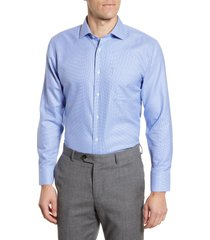 men's nordstrom men's shop trim fit non-iron houndstooth dress shirt