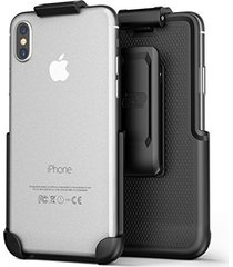 iphone x belt clip (case free design), encased clipmate non-slip rotating holste