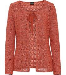 cardigan in maglia traforata (rosso) - bodyflirt
