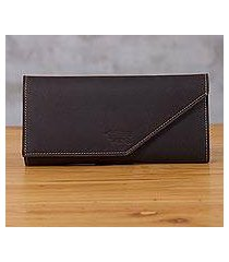 leather wallet, 'chocolate style' (peru)