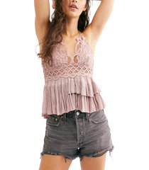 free people adella camisole, size x-large in dusty mauve at nordstrom