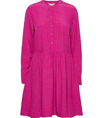 viscose cdc above knee dress ls korte jurk roze tommy hilfiger