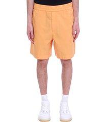 acne studios shorts in orange cotton