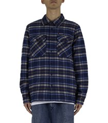 insulated fjord flannel jacket - blue/light blue