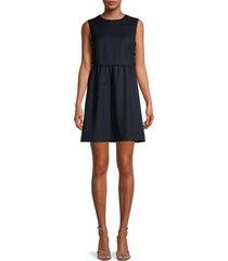 redvalentino women's lace-up dress - blue - size 38 (6)