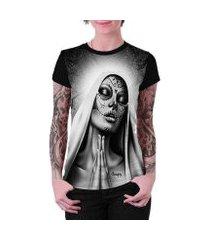 camiseta stompy estampada feminina
