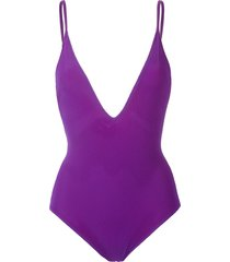 gloria coelho mesh swimsuit - purple