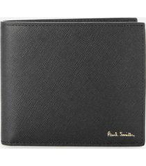ps paul smith men's racing mini bifold wallet - black