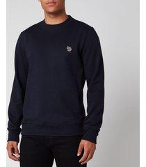 ps paul smith men's zebra logo regular fit sweatshirt - dark navy - xxl