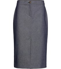 3395 - aidith knälång kjol blå sand