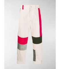 diesel red tag colour-block trousers