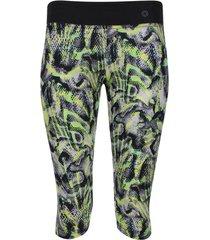 leggins deportivo estampado verde color negro, talla s