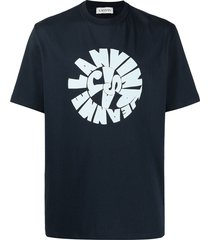 lanvin swirl logo t-shirt - blue