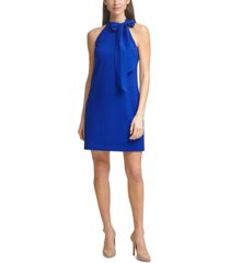 vince camuto bow-neck halter dress