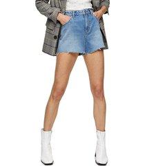 women's topshop premium denim mom shorts