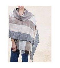 100% alpaca shawl, 'quiet atacama' (peru)