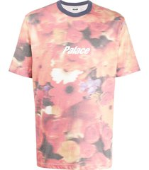 palace blurry flower ringer t-shirt - pink