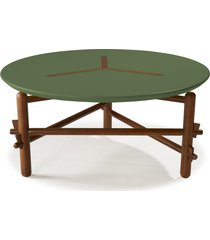 mesa de centro twist 761 cacau/verde musgo - maxima
