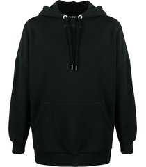 black classic logo relaxed hoodie