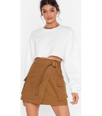 womens use it or lose it skirt - tobacco