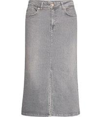 dilinpw sk knälång kjol grå part two