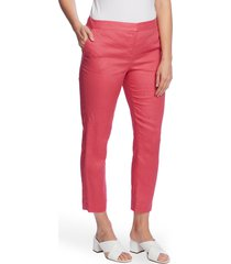women's vince camuto slim linen ankle pants, size 14 - purple