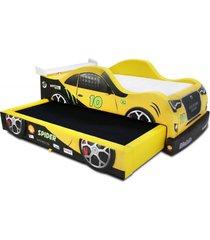bicama cama carro spider amarela