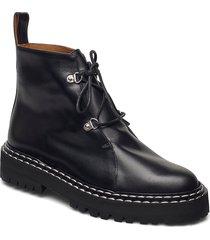 cozzana black vacchetta shoes boots ankle boots ankle boot - flat svart atp atelier