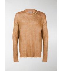 federico curradi distressed knit sweater