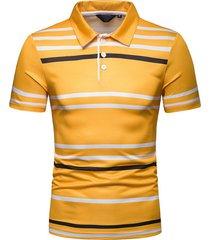 camiseta de solapa de moda para hombre
