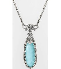 konstantino 'aegean' teardrop pendant necklace in silver/turquoise at nordstrom