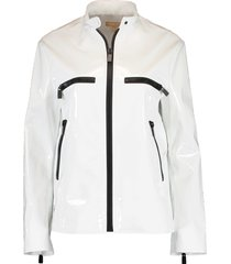 zippered leather surf jacket