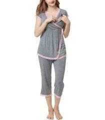 kimi & kai cindy maternity nursing pajama set
