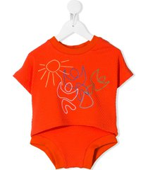 raspberry plum toto shorties set - orange