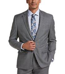 lauren by ralph lauren gray sharkskin classic fit suit