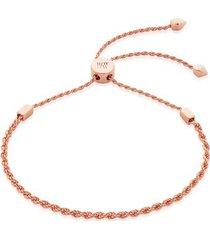 rose gold corda fine chain friendship bracelet