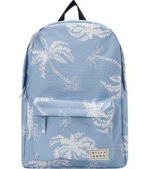 billabong next time leopard print utility backpack - blue