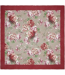 gucci gg supreme blooms scarf - red
