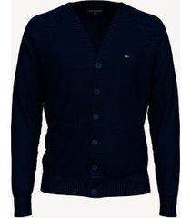 tommy hilfiger men's essential button cardigan sky captain - xxl
