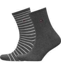 th women small stripe 2p lingerie hosiery socks grå tommy hilfiger