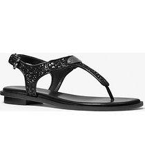 mk sandalo con glitter e logo - nero (nero) - michael kors