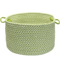 outdoor houndstooth tweed braided basket