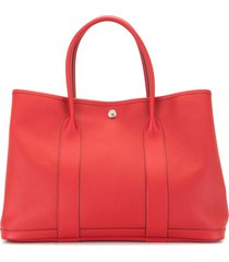 hermès 2017 pre-owned garden party 36 tote - red