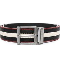 bally taylan striped belt - black