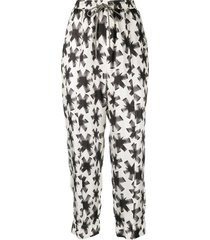 odeeh abstract-print harem trousers - neutrals