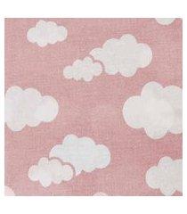 lençol para cercado 1,00x1,20m alvinha ref.5800 / 5801 / 5802 - minasrey-rosa