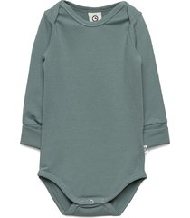 cozy me body bodies long-sleeved grön müsli by green cotton