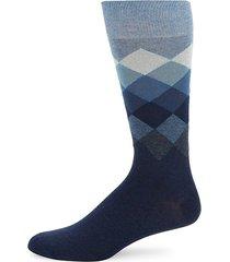 ombre argyle crew socks