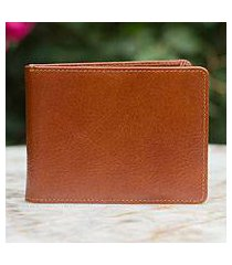 men's leather wallet, 'executive brown' (thailand)